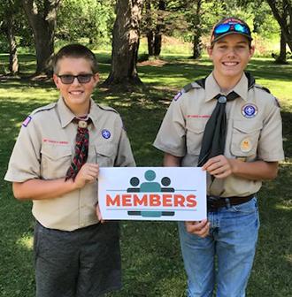 """Members"" Boy Scouts"